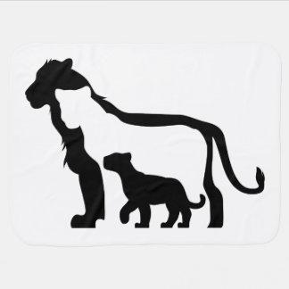 Cobertor De Bebe Leões preto e branco