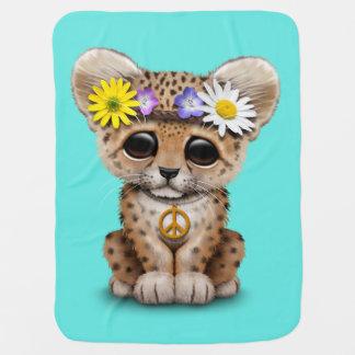 Cobertor De Bebe Leopardo bonito Cub do Hippie