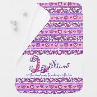 Cobertor De Bebe Lillian personalizou L cobertura conhecida do bebê