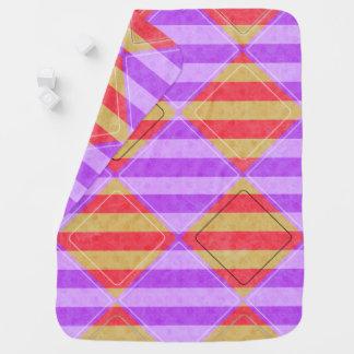 Cobertor De Bebe Listras, diamantes, teste padrão do ponto por
