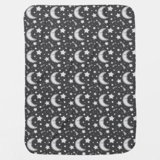 Cobertor De Bebe Lua sonolento - cobertura cinzenta escura do bebê