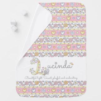 Cobertor De Bebe Lucinda L corações conhecidos do significado