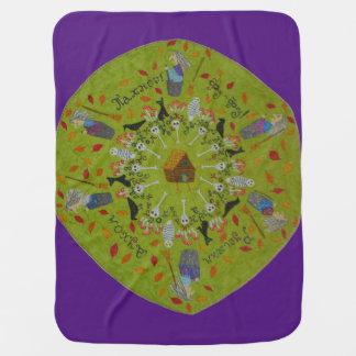 Cobertor De Bebe Mandala de Yaga do babá
