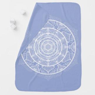 Cobertor De Bebe Mandala do mirtilo