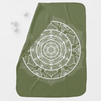 Cobertor De Bebe Mandala do musgo