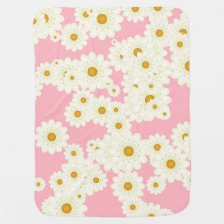 Cobertor De Bebe Margaridas no rosa