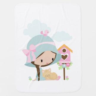 Cobertor De Bebe Menina doce com a cobertura do bebê do gatinho do