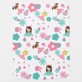 Cobertor De Bebe Meninas bonitos do joaninha personalizadas