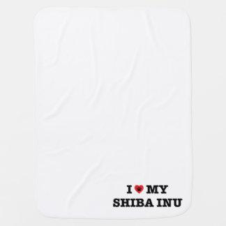 Cobertor De Bebe Mim coração meu Shiba Inu