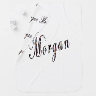 Cobertor De Bebe Morgan, nome, logotipo, do branco cobertura do