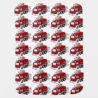 Cobertor De Bebe Motor do carro de bombeiros dos desenhos animados