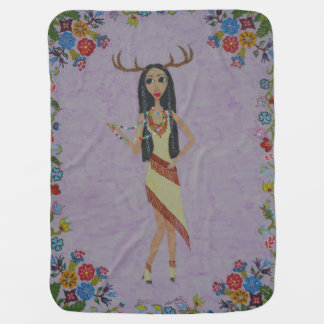 Cobertor De Bebe Mulher dos cervos (série #5 da forma do conto de