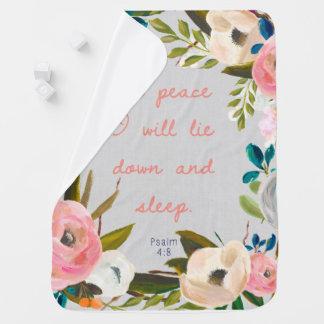 Cobertor De Bebe Na paz eu encontrar-me-ei para baixo e cobertura