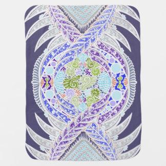 Cobertor De Bebe Nascimento da vida, idade nova, meditação, boho,
