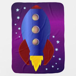 Cobertor De Bebe Navio de Rocket às estrelas