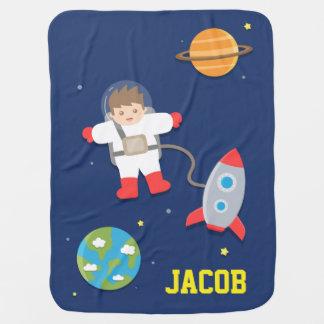 Cobertor De Bebe Navio de Rocket, astronauta, o espaço, para bebês