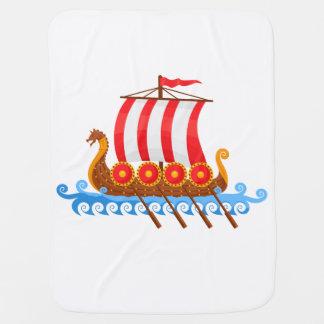 Cobertor De Bebe Navio de Viking