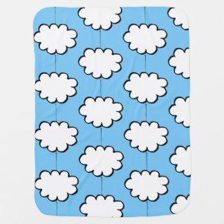 Cobertor De Bebe Nuvens em cordas