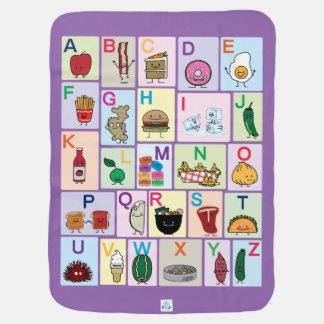 Cobertor De Bebe O alfabeto de ABC que aprende alimentos felizes
