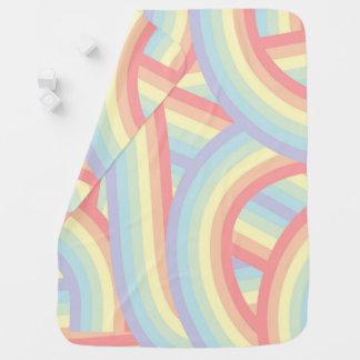 Cobertor De Bebe O arco-íris Pastel moderno bonito listra o bebê