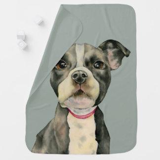 """Cobertor De Bebe O """"filhote de cachorro Eyes"""" a pintura da aguarela"""