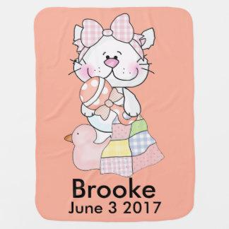 Cobertor De Bebe O gatinho personalizado de Brooke