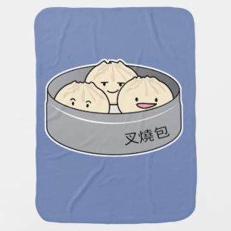 Cobertor De Bebe O pequeno almoço chinês do dim sum do bolo da
