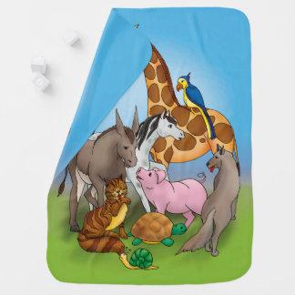 Cobertor De Bebe Olá! meus amigos! animais adoráveis de |