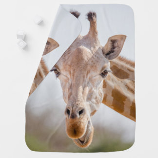 Cobertor De Bebe Olhar directamente nos olhos com o girafa