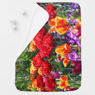 Cobertor De Bebe Ondas florais dos carmesins de Falln