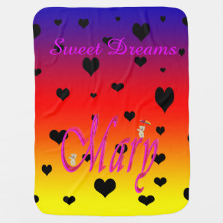 Cobertor De Bebe Os sonhos doces Mary, arco-íris do bebê aquecem a