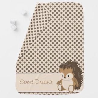 Cobertor De Bebe Ouriço do bebê dos animais   da floresta  