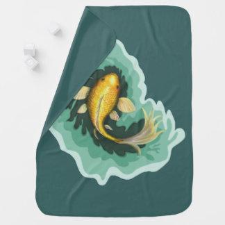 Cobertor De Bebe Peixe dourado bonito