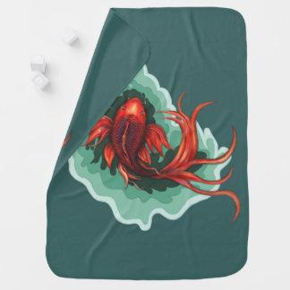 Cobertor De Bebe Peixes bonitos da fantasia