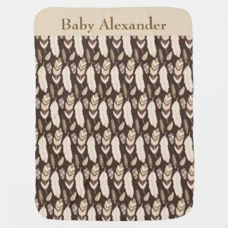 Cobertor De Bebe Penas nativas
