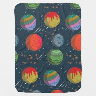 Cobertor De Bebe Planetas coloridos no espaço