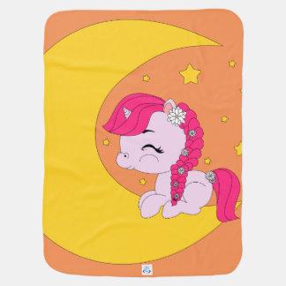 Cobertor De Bebe Pônei na lua - cobertura do bebê