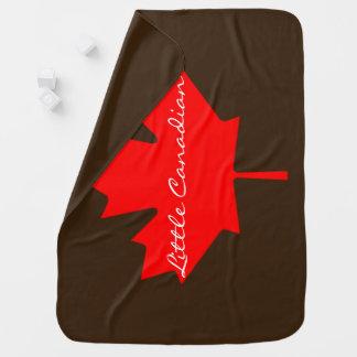 Cobertor De Bebe Pouca cobertura vermelha canadense da folha de