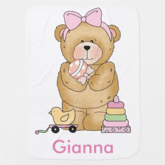 Cobertor De Bebe Presentes personalizados do urso de ursinho de