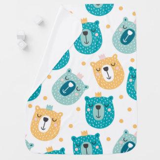 Cobertor De Bebe Rei bonito Bebê Cobertura do urso