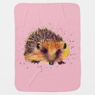 Cobertor De Bebe rosa babydecke cobertor bebé com ouriço
