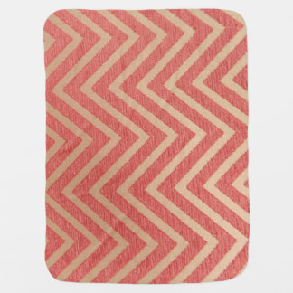 Cobertor De Bebe Rosa do ziguezague