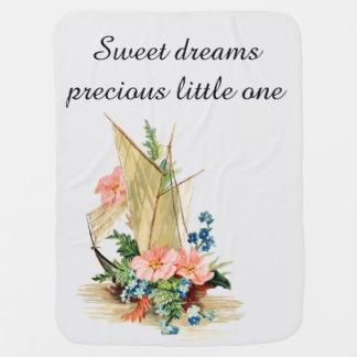 Cobertor De Bebe Sonhos doces, veleiro do vintage enchido com as
