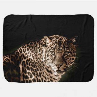 Cobertor De Bebe Starring manchado do leopardo