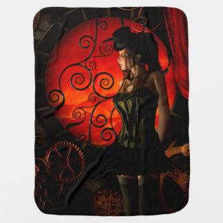 Cobertor De Bebe Steampunk, senhora maravilhosa do steampunk na