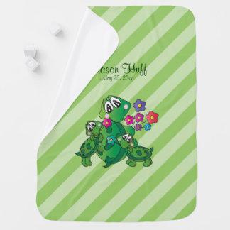 Cobertor De Bebe Tartaruga bonito de Momma dos desenhos animados e