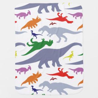 Cobertor De Bebe Teste padrão colorido do dinossauro (luz)