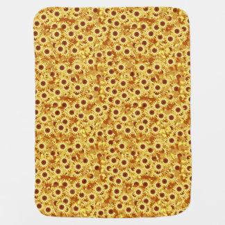 Cobertor De Bebe Teste padrão do girassol - ouro, amarelo e marrom