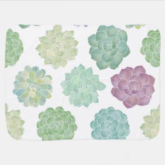 Cobertor De Bebe Teste padrão do jardim do Succulent