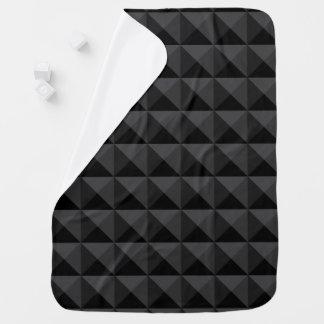 Cobertor De Bebe Teste padrão geométrico moderno do quadrado preto